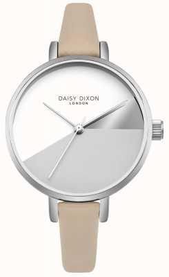 Daisy Dixon Correa de cuero gris marron ava para mujer DD064CS