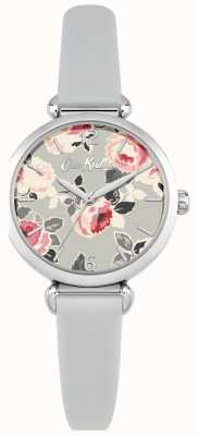 Cath Kidston Correa de cuero de la caja de acero inoxidable del dial de la impresión floral de las mujeres CKL047ES