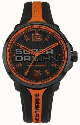 Superdry Correa de silicona naranja y negra kyoto para hombre SYG216BO