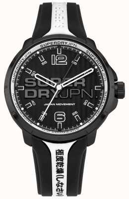 Superdry Correa de silicona blanco y negro kyoto para hombre SYG216BW