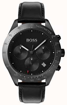 Hugo Boss Talento cronógrafo negro esfera fecha exhibición cuero negro 1513590
