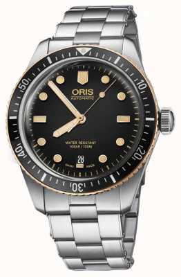 Oris Reloj de pulsera de acero inoxidable sesenta sesenta y cinco 01 733 7707 4354-07 8 20 18