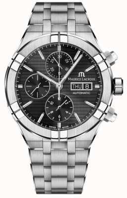 Maurice Lacroix Aikon cronógrafo automático reloj de acero inoxidable en negro AI6038-SS002-330-1