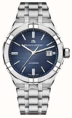 Maurice Lacroix Reloj automático Aikon de acero inoxidable en color azul AI6008-SS002-430-1