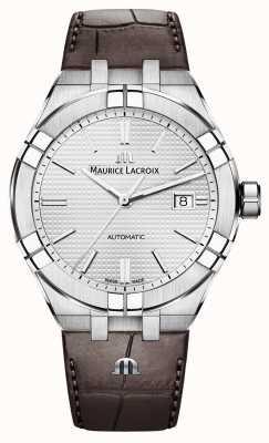 Maurice Lacroix Reloj Aikon automático de cuero marrón AI6008-SS001-130-1