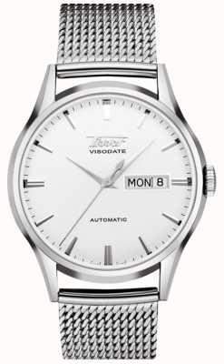 Tissot Reloj automático de acero inoxidable con viso de Heritage T0194301103100