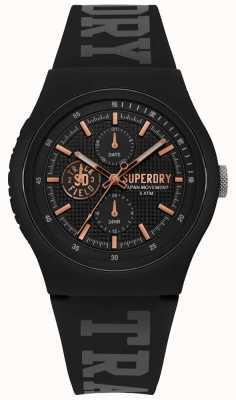 Superdry Urban xl correa de silicona negra SYG188BRG