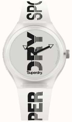 Superdry Urban xl sport correa de silicona blanca SYG189W