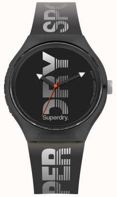 Superdry Urban xl sport correa de silicona negra SYG189B