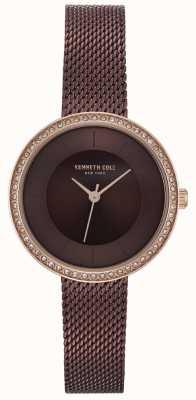 Kenneth Cole Reloj de malla marrón marrón marinero para mujer KC50198003