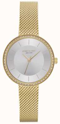 Kenneth Cole Reloj de malla de oro para mujer KC50198005