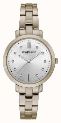 Kenneth Cole Reloj de brazalete dorado con caja de oro para mujer KC15173006