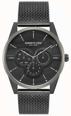 Kenneth Cole Reloj de pulsera con malla negra para hombre KC15205005
