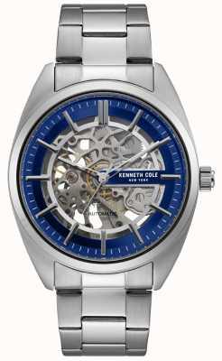 Kenneth Cole Reloj esquelético para hombre con pulsera de acero inoxidable KC50064003
