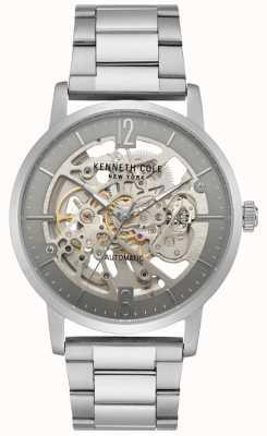 Kenneth Cole Reloj esquelético para hombre con pulsera de acero inoxidable KC50054005