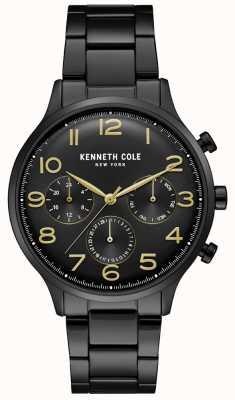 Kenneth Cole Reloj cronógrafo negro pvd para hombre KC15185001