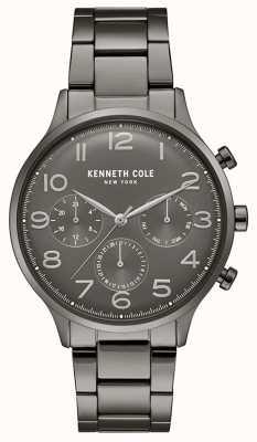 Kenneth Cole Reloj de cronógrafo plateado pvd gunmetal para hombre KC15185002