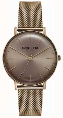 Kenneth Cole Reloj de malla de oro rosa dorado KC15183002