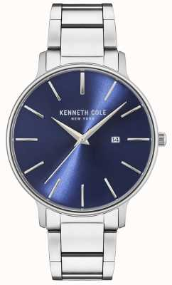Kenneth Cole Reloj de esfera azul acero inoxidable KC15059003