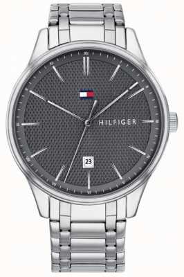Tommy Hilfiger Reloj de acero inoxidable con esfera gris damon para hombre 1791490