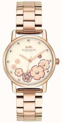 Coach Reloj plateado oro rosa magnífico para mujer 14503057