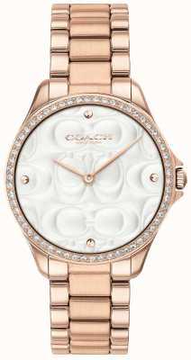 Coach Reloj deportivo moderno para mujer en oro rosa 14503072