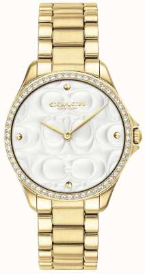 Coach Reloj deportivo moderno para mujer en dorado 14503071