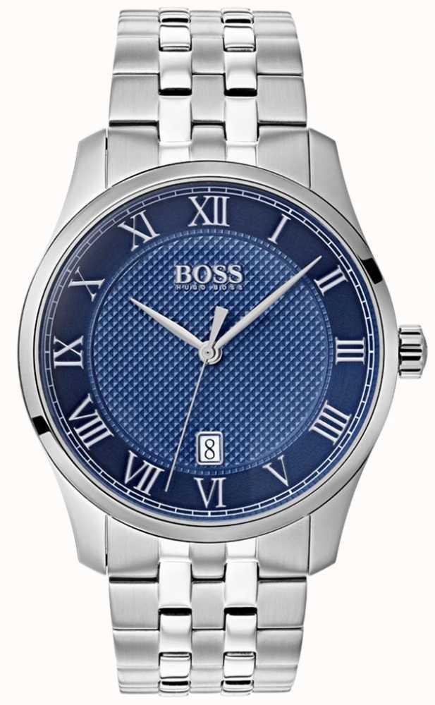 1a5c99e800f5 Hugo Boss Reloj De Pulsera De Acero Inoxidable Con Esfera Azul Para ...