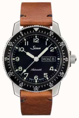 Sinn 104 st sa clásico reloj piloto piel marrón claro vintage 104.011-BL50205002401A