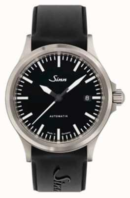 Sinn 556 i sports correa de silicona negra de cristal de zafiro 556.010 SILICONE