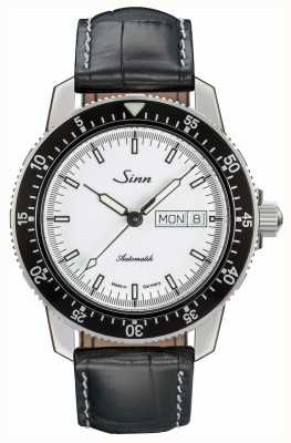 Sinn 104 st sa iw classic pilot reloj piel de cocodrilo en relieve 104.012 BLACK EMBOSSED LEATHER