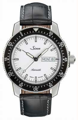 Sinn 104 st sa iw classic pilot reloj piel de cocodrilo en relieve 104.012 BLACK EMBOSSED LEATHER