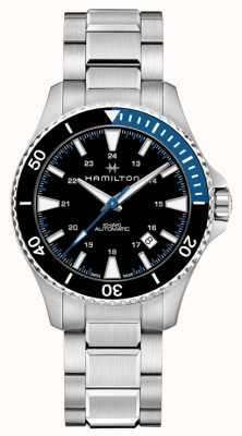 Hamilton Dial negro de acero inoxidable de color caqui para buceo H82315131