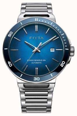 FIYTA Zafiro dial automático azul automático acero inoxidable GA852001.WLW