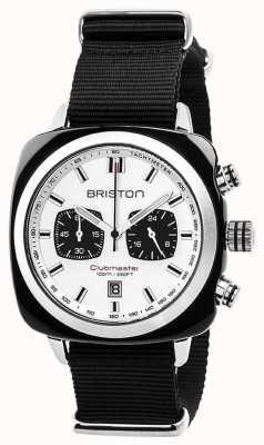Briston Clubmaster sport timeless correa negra esfera blanca 17142.SA.BS.2.NB