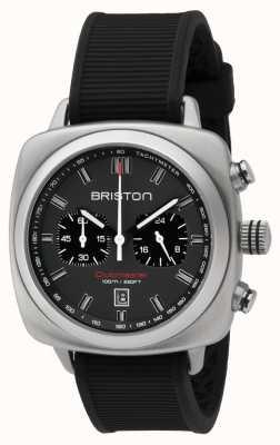 Briston Clubmaster sport negro goma gris esfera mate 16142.S.SP.17.RB