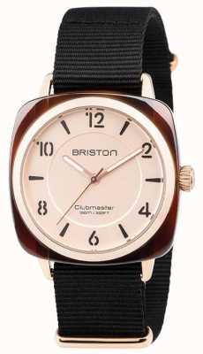 Briston Dial negro elegante de la correa del Clubmaster chic 18536.PRA.T.6.NB