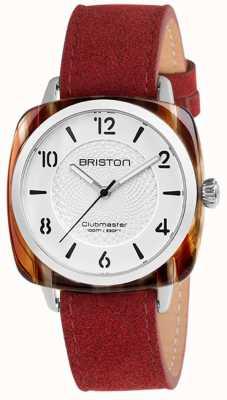 Briston Clubmaster chic correa roja esfera blanca 18536.SA.RE.2G.LNR