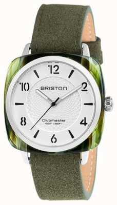 Briston Clubmaster chic esfera blanca correa verde 18536.SA.GE.2G.LNGA