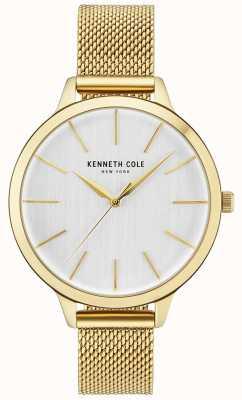 Kenneth Cole Pulsera de malla de oro con esfera blanca para mujer dorada KC15056011