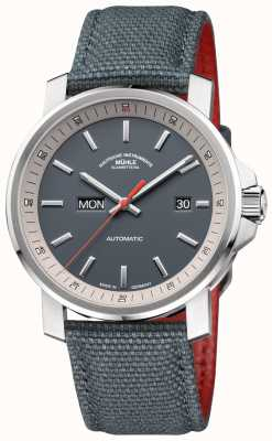 Muhle Glashutte El reloj 29er tag acero inoxidable gris. M1-25-34-NB