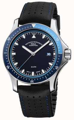 Muhle Glashutte Promare go blue dial cuero negro / correa de caucho M1-42-32-NB