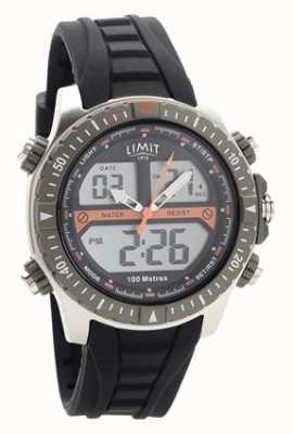 Limit Reloj digital / analógico de correa de caucho negro para hombre 5694.71