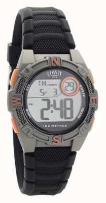Limit Reloj digital / analógico de correa de caucho negro para hombre 5695.71