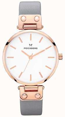 Mockberg Reloj de cuero gris oscuro Alicia para mujer MO118