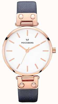 Mockberg Reloj de cuero para mujer sophie azul marino MO119
