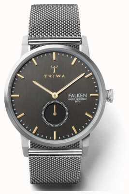 Triwa Malla de acero ahumado para hombre de Falken TR.FAST119-ME021212