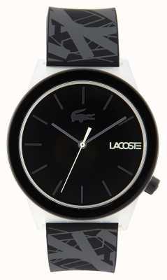 Lacoste Reloj unisex con correa de caucho negra y gris 2010937