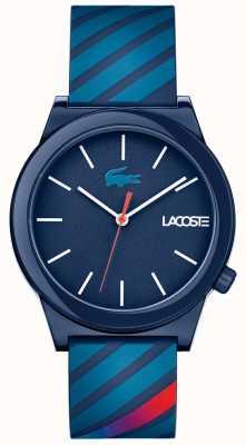 Lacoste Correa de caucho azul con reloj de movimiento unisex 2010934