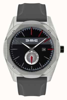 DeLorean Motor Company Watches The dream advance correa de silicona gris esfera negra DMC-5